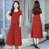新款复古中长款两件套显瘦裙子夏季纯装GTAF-11#799