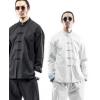 左杜唐装男青年套装冬季加厚中式复古外套中山装汉服中国风男装潮
