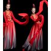 2019新款水袖舞服装女飘逸中国风现代舞蹈惊鸿舞古典舞演出服成人