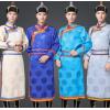 秋季新款蒙族衣服蒙古袍日常装男士传统民族服装演出服蒙古服装男