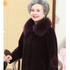 老年人冬装女妈妈羊剪绒大衣老人衣服奶奶羊毛呢外套太太皮草外套