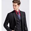 西服套装男士韩版修身小西装三件套职业正装伴郎服装新郎结婚礼服