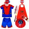 新款钢铁蜘蛛侠衣服短袖t恤套装童装儿童男孩 夏款男童迈尔斯服装