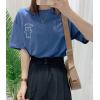 0516/陈儒兵服饰店 可爱小熊印花T恤女短袖宽松女装2020新款夏季