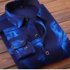 布度尼2020秋冬男士加绒加厚长袖保暖衬衫格子印花衬衣服装