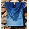原创植物靛蓝染t-shirt 草木染亲子T恤 蓝染纯棉情侣服装 植染T恤