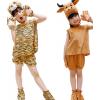 六一儿童节演出服短袖动物表演服夏季 幼儿园cosplay恐龙奶牛服装